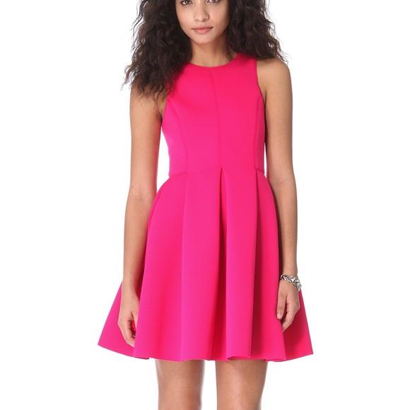 Tibi Dresses & Skirts - Tibi Neoprene Sleeveless Dress in shocking Pink